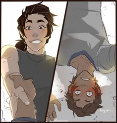 "Keith- ""Hey, you gonna get up?"" Lance- ""Uh, yeah"""