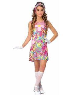 groovy child costume cheap 60s costumes for girls