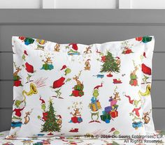 Our cozy duvet cover featuring a classic color scheme and their favorite characters from Dr. Seuss's The Grinch™ give your child's bedroom a just-right dose of holiday cheer. Interior corner ties and a hidden button keep the duvet in place, … Kids Christmas, Christmas Crafts, Christmas 2017, White Christmas, Xmas, Dr Seuss Crafts, Flannel Duvet Cover, Restoration Hardware Bedding, Cotton Duvet