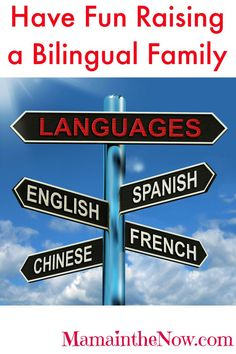 """""""How to Raise Your Kids to be Bilingual"""" - and have fun doing it! # 5 is genius - such a learning experience!"""