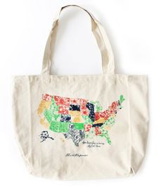 USA State Flower Tote Bag by thimblepress on Etsy https://www.etsy.com/listing/272591592/usa-state-flower-tote-bag