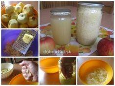 Strúhané jablká a jablková šťava sterilizované