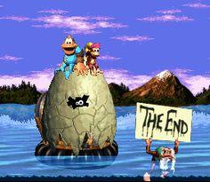 Final para Donkey Kong Country 3-Banana Pássaro End (Super NES)