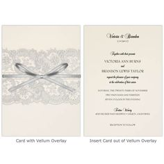Found this on Storkie.com.Silver elegance.Lace & ribbon.