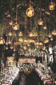 20 Breathtaking Wedding Reception Lighting Ideas You Can Steal Pagan Wedding, Fantasy Wedding, Fall Wedding, Dream Wedding, Chic Wedding, Witch Wedding, Wedding Pins, Wedding Card, Wedding Stuff