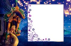 Transparent Child Frame with Rapunzel