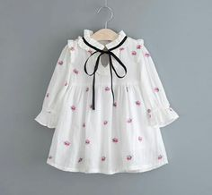 Cheap girls princess, Buy Quality fashion kids clothes directly from China kids clothes Suppliers: 2017 Summer Baby Girls Dresses Ruffles Print Flower Full Sleeve Fashion Girl Princess Dress Korea Lolita Kid Clothes Baby Girl Dress Patterns, Baby Dress Design, Dresses Kids Girl, Kids Outfits, Baby Dresses, Baby Girl Fashion, Kids Fashion, Fashion Ideas, Dress Anak