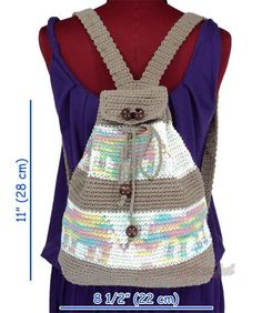 siamcolourful uploaded this image to 'Crochet_Backpack'. See the album on Photobucket. Cotton Crochet, Knit Or Crochet, Crochet For Kids, Crochet Handbags, Crochet Purses, Crochet Bags, Crochet Shoes, Crochet Clothes, Crochet Backpack