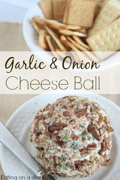 Our favorite cheese ball recipe. Try this garlic and onion cheese ball recipe for your next appetizer.