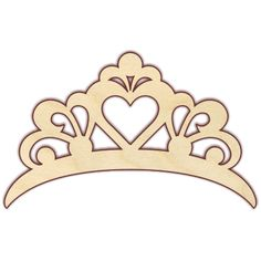 Tiara - The Wooden Hare Princess Birthday, Princess Party, Graduation Table Decorations, Diy And Crafts, Paper Crafts, Duck Crafts, Crown Template, Heart Template, Boutique Hair Bows