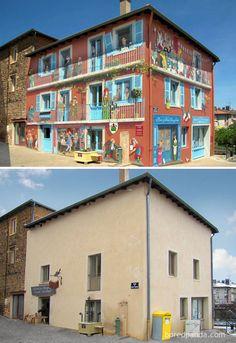 Alcune opere di street art dimostrano come l'arte urbana possa integrarsi perfettamente con l'architettura esistente, valorizzando il paesaggio o addirittu