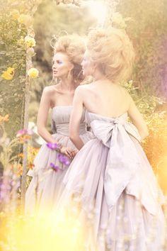 Valerya by Amber Gray for Brides December 2010, lovely purple wedding dress