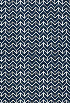 FSchumacher Fabric 2644031 Chevron Print Navy