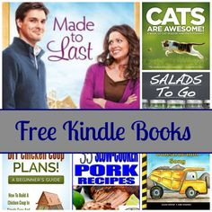 Free Kindle Book List: Made To Last, Cats Are Awesome, Salads To Go, and More