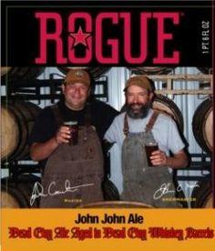 Cerveja Rogue John John Dead Guy Ale, estilo Wood Aged Beer, produzida por Rogue Ales Brewery, Estados Unidos. 8.2% ABV de álcool.