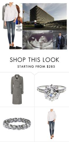"""""""Visiting her doctor and being informed that she is ten weeks pregnant"""" by hanaofbelgium ❤ liked on Polyvore featuring Clinique, Boucheron, MiH Jeans and TOMS"""