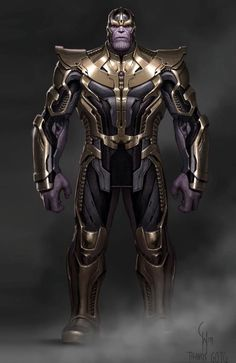 In which Thanos' design is finalized; by Charlie Wen. Marvel Comic Universe, Marvel Comics Art, Marvel Heroes, Marvel Comic Character, Comic Book Characters, Marvel Characters, Foto Batman, Overwatch Costume, Predator Cosplay