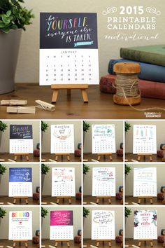 You can view and even download amazing 15 free printable 2015 calendars from Heart Handmade.Colorful calender at Today's Creative Blog,instagram calenders.