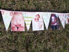 First Birthday Year Progression Banner/Bunting by PickleShop