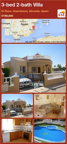 3-bed 2-bath Villa in El Raso, Guardamar, Alicante, Spain ►€199,000 #PropertyForSaleInSpain