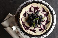 Swirled Blackberry Cheesecake