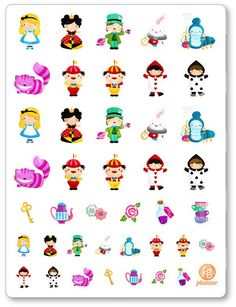 Alice PDF PRINTABLE Planner Stickers