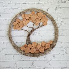 Wine Bottle Upcycled Cork Wall Art - Upcycled Home Decor - Wine Cork Bar Decor - Wine Gifts - Wine Cork Art - Wine Decor - Housewarming Gift Wine Craft, Wine Cork Crafts, Wine Bottle Crafts, Champagne Cork Crafts, Wine Cork Art, Wine Cork Wreath, Wine Cork Centerpiece, Wine Cork Trivet, Recycled Wine Corks