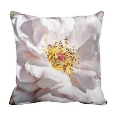 16 x 16 Cotton Pillow with Pink Rose Design http://www.zazzle.com/natureartphotos*