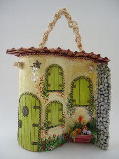 Art and Craft Ideas Clay Fairy House, Fairy Houses, Hobbies And Crafts, Diy And Crafts, Arts And Crafts, Paper Clay, Clay Art, Clay Fairies, Ceramic Houses