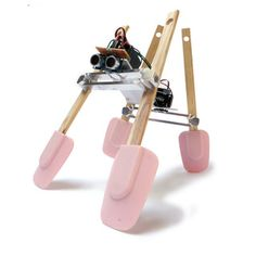 Simple Walker Robot ---- HEY HEY!!!  For more COOL ARDUINO stuff, check out http://arduinohq.com