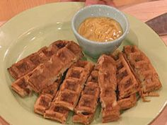Ham and Cheese Waffles with Honey Mustard Dipping Sauce Recipe