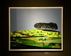 Copse at Higher Cookworthy Acrylic on Canvas by Paul Jackson