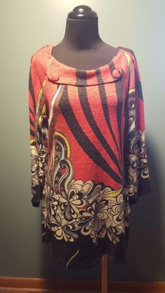 Aryeh Anthropologie Red Hippie Floral Psychedelic Acrylic Sweater Dress M Euc #Aryeh #SweaterDress #WeartoWork #daystarfashions $29