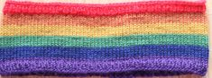 Hand knitted headband in Pride Rainbow colors in 100% pure wool by Ebooksandhandmade on Etsy Knitted Headband, Knitted Hats, Rainbow Pride, 100 Pure, Rainbow Colors, Mittens, Hand Knitting, Pure Products, Wool