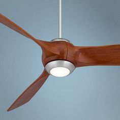 "TOO SHORT FOR OUR ROOM Brushed nickel motor finish. Three carved solid Tung wood blades. 56"" blade span. 28 degree blade pitch. 153 x 16 mm DC motor size. Energy efficient. Includes 7 watt LED / 3000K / Lumens 651 Opal glass diffuser. 6"" downrod included. Extension Downrods Not Available. For 8 And 9 foot ceiling installation. Fan height 13"" from ceiling to bottom of blade (with 6"" downrod). Fan height 15.75"" from ceiling to bottom of light (with 6"" downrod). Canopy is 6.77"" wide, 2.4"" high."