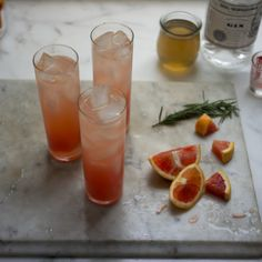 Blood Orange Gin Sparkler Recipe #recipe #vegan #beverages