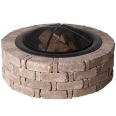 Pavestone 14 in. x 45.8 in. RumbleStone Round Fire Pit Kit #2, Sierra Blend-RSK50277 at The Home Depot