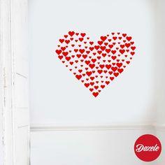 Vinilos Decorativos Teens Corazones Love #VinilosDecorativos #VinilosTeens #Corazones #Love #SanValentin #Enamorados #Dozele