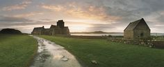 Scotland Sunrise, Sea, Architecture and History - Abbey road: Christianity was brought to Iona by Saint Columba in A.D. 563. In 1203, a Benedictine monastery was founded on the site of the present abbey, which was restored in the early 1900s.