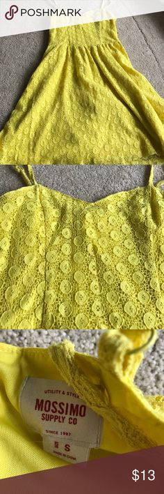 Yellow sundress Perfect condition no stains, worn only once for cheer banquet Dresses Mini