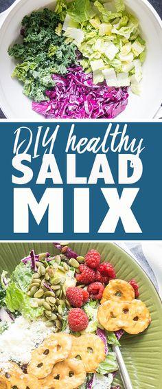 DIY healthy salad mix #copycatrecipe #salad #salads #saladmix #glutenfree #vegan #vegetarian #healthyrecipes
