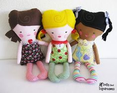 Dolly Donations with free pattern. I love this idea, have fun crafting while giving.
