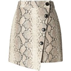 Banana Republic x Olivia Palermo Snake-Effect Italian Leather... (11.316.560 VND) ❤ liked on Polyvore featuring skirts, wrap skirt, banana republic, banana republic skirts and snake skirt