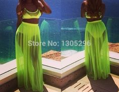 Sexy Summer women chiffon swimsuit swimwears two piece outfits beach suit wear long maxi dress plus size beach cover up YQ018-in Dresses from Apparel & Accessories on Aliexpress.com | Alibaba Group