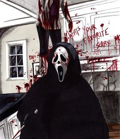 #scream #horror #movies Scream Art, Scream Movie, Scream Series, Mtv Scream, Horror Icons, Horror Art, Horror Films, Ghostface Scream, Scary Movies
