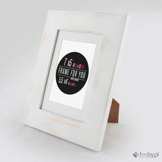Biała Rustykalna Livia - drewniane ramy do obrazów, plakatów, zdjęć