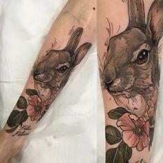 Zając - Hare #zając #hare #tattoo #haretattoo /Sophia Baughan