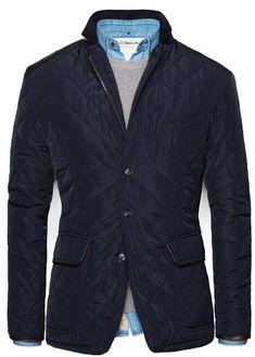 Royal Blue Husky Jacket by H.E. Mango