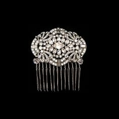 Vintage hair combs 1920's Art Deco  Bridal Hair Comb