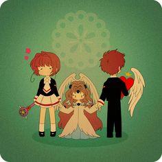 Cardcaptor Sakura | CLAMP | Madhouse / Kinomoto Sakura, The Sealed Card, and Li Shaoran / 「しあわせ」/「日文@ついった復活」のイラスト [pixiv]